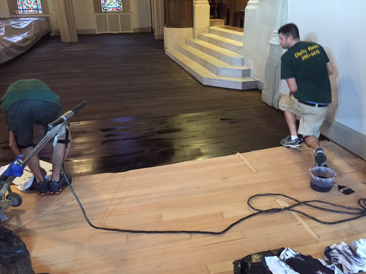 Dye Hardwood Flooring Medford MA 2-min