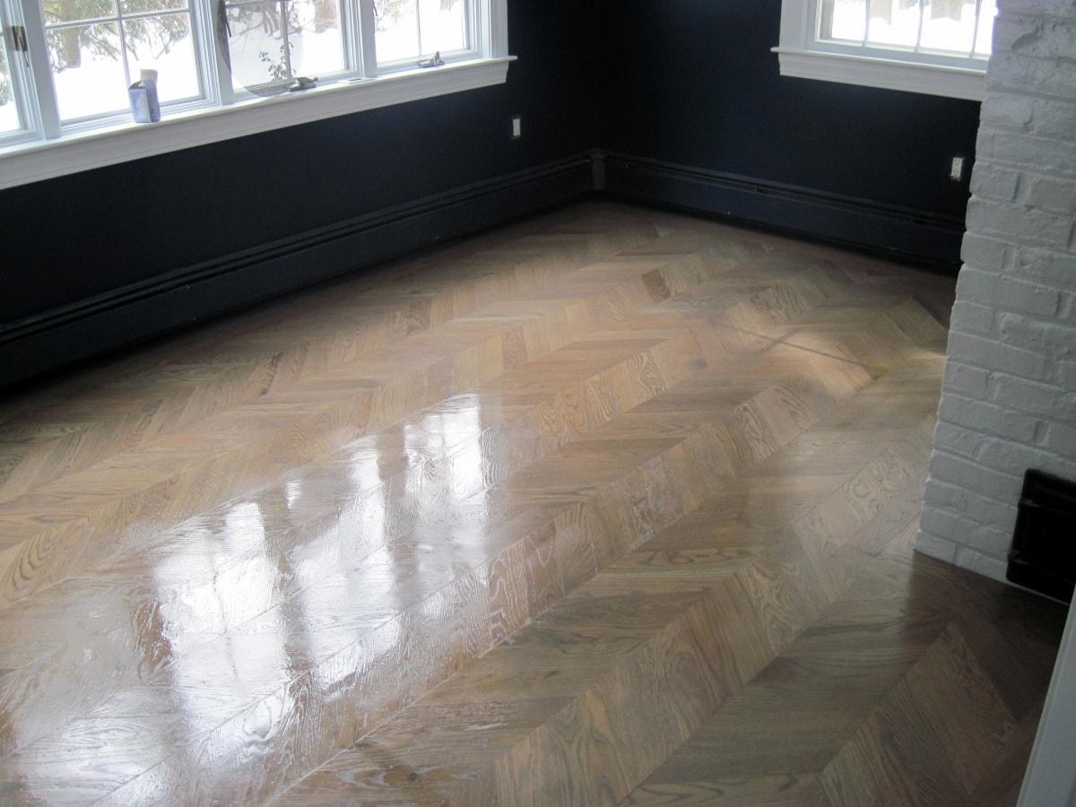 Grey Stain Hardwood Flooring Medford MA 4-min