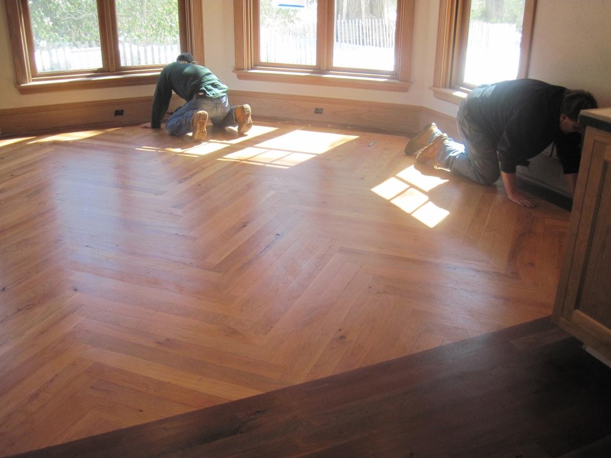 Herringbone Hardwood Flooring Medford MA 1-min