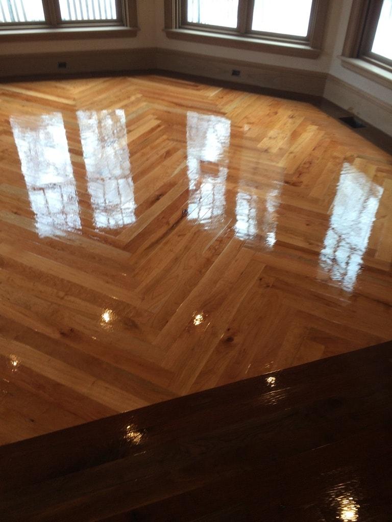 Herringbone Hardwood Flooring Medford MA 10-min