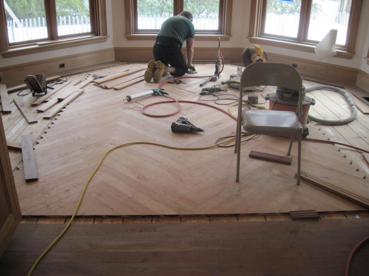 Herringbone Hardwood Flooring Medford MA 12-min