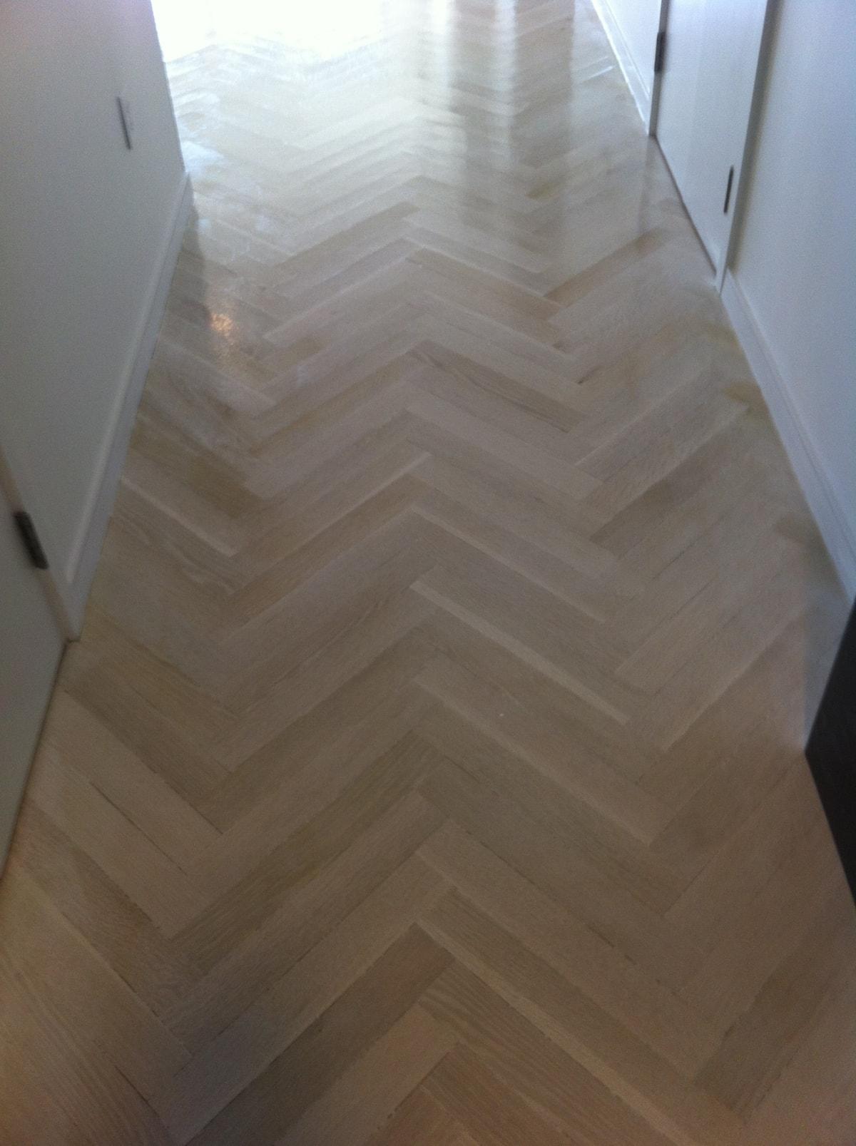 Herringbone Hardwood Flooring Medford MA 2-min