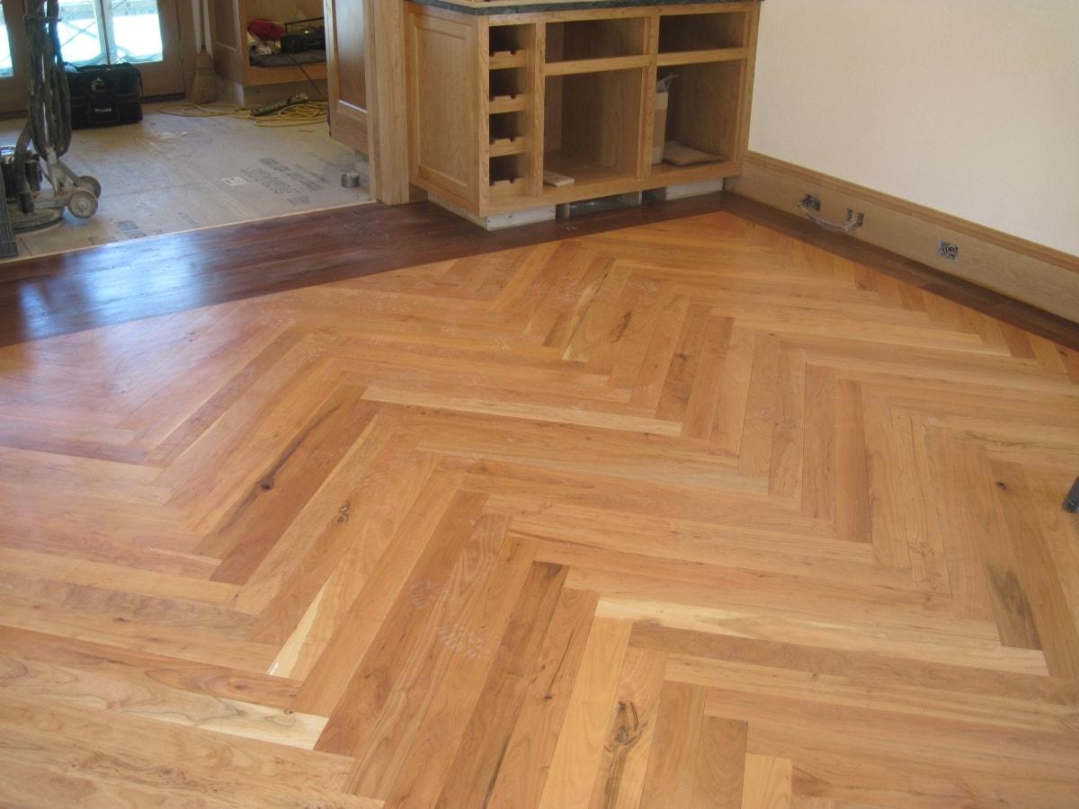 Herringbone Hardwood Flooring Medford MA 4-min