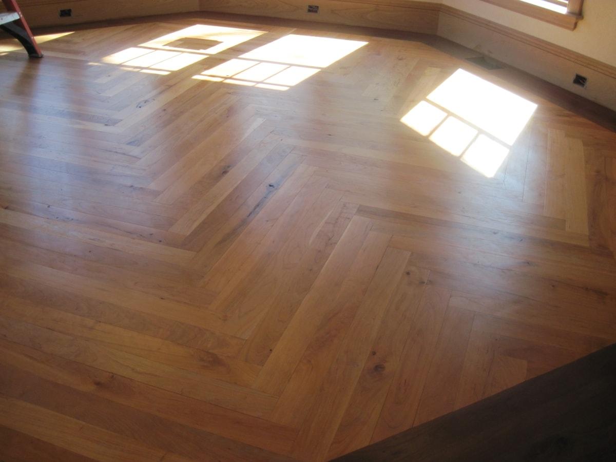 Herringbone Hardwood Flooring Medford MA 6-min