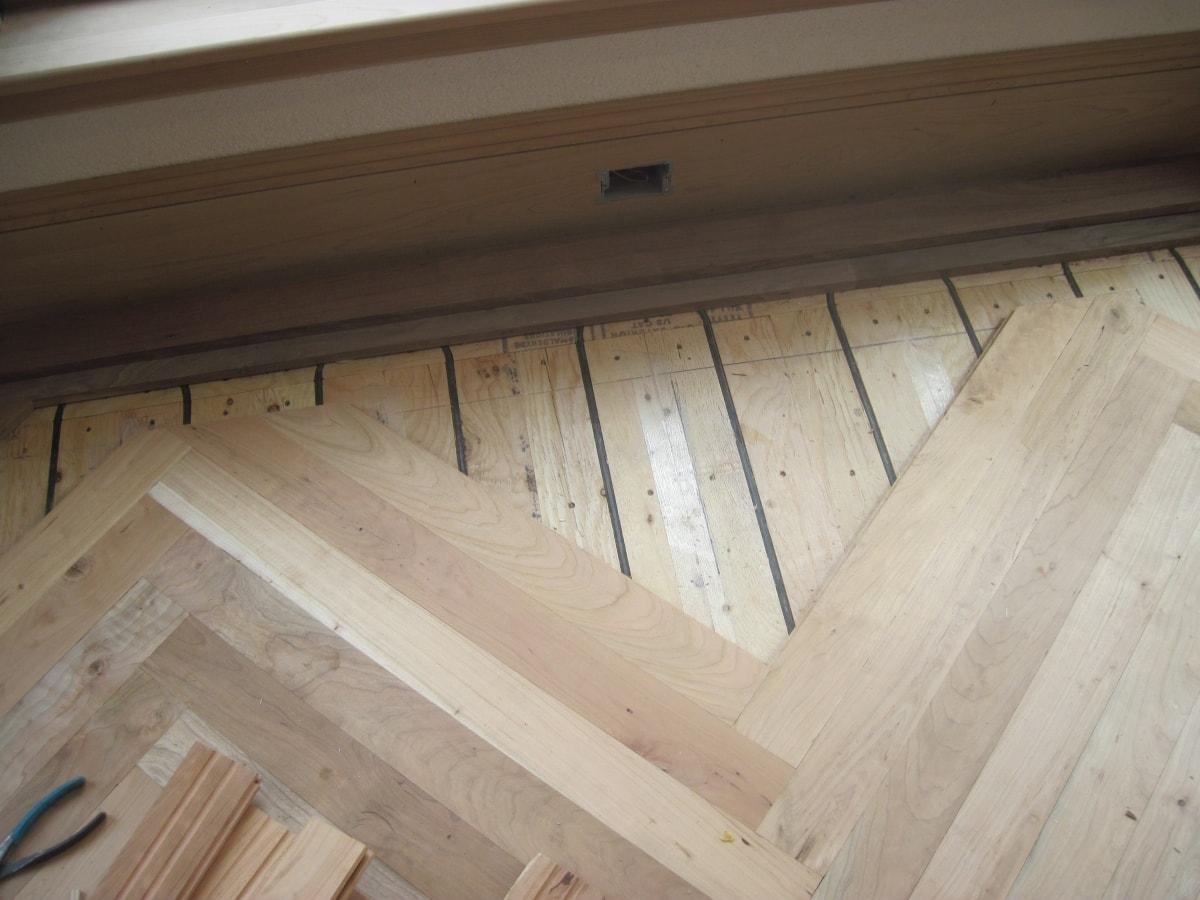 Herringbone Hardwood Flooring Medford MA 9-min