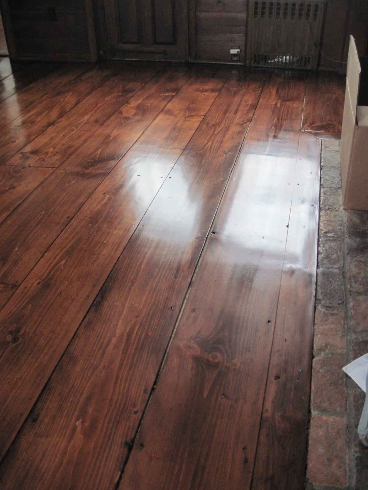 Pine Stained Flooring Medford MA 1-min