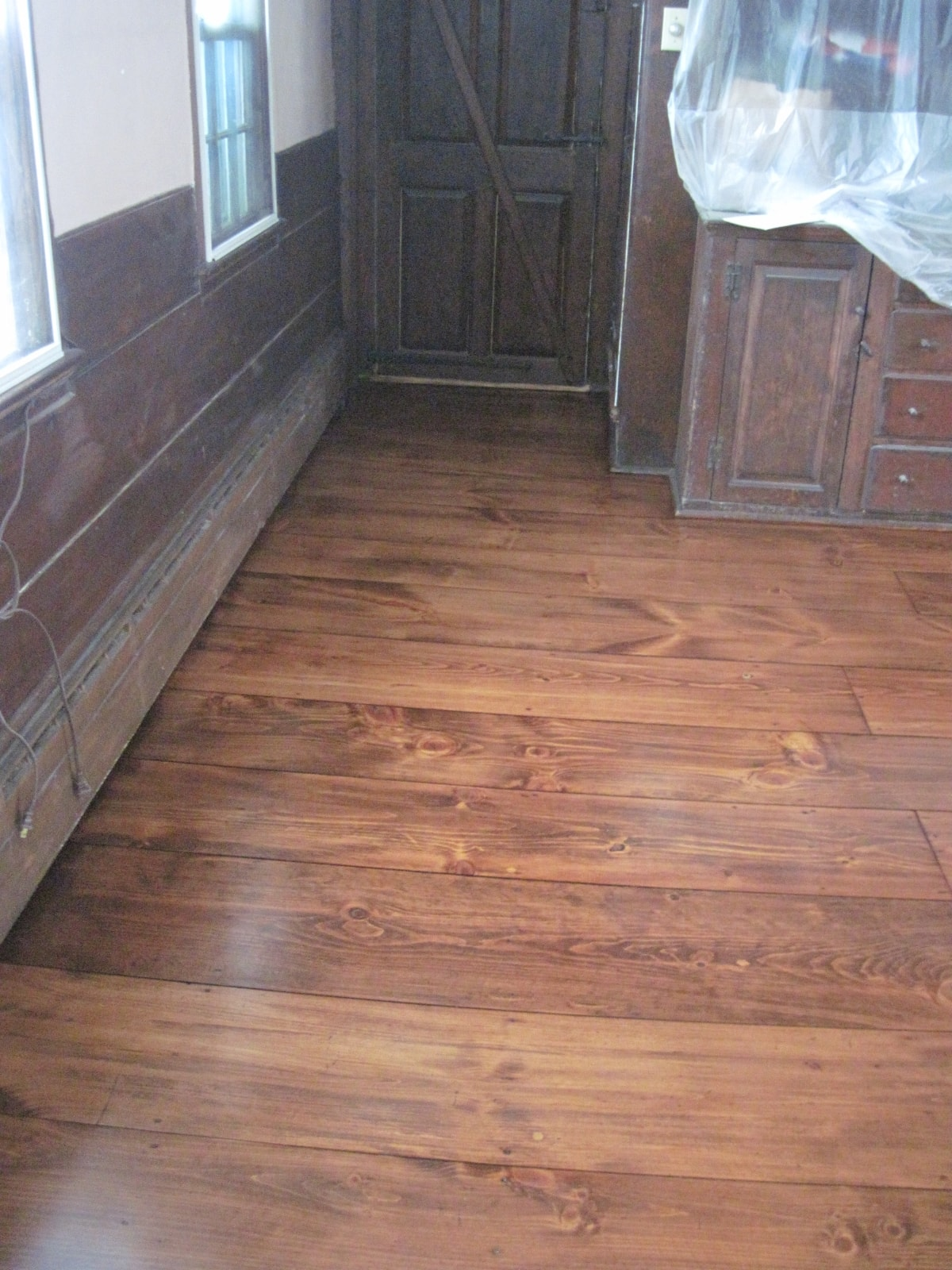 Pine Stained Flooring Medford MA 2-min