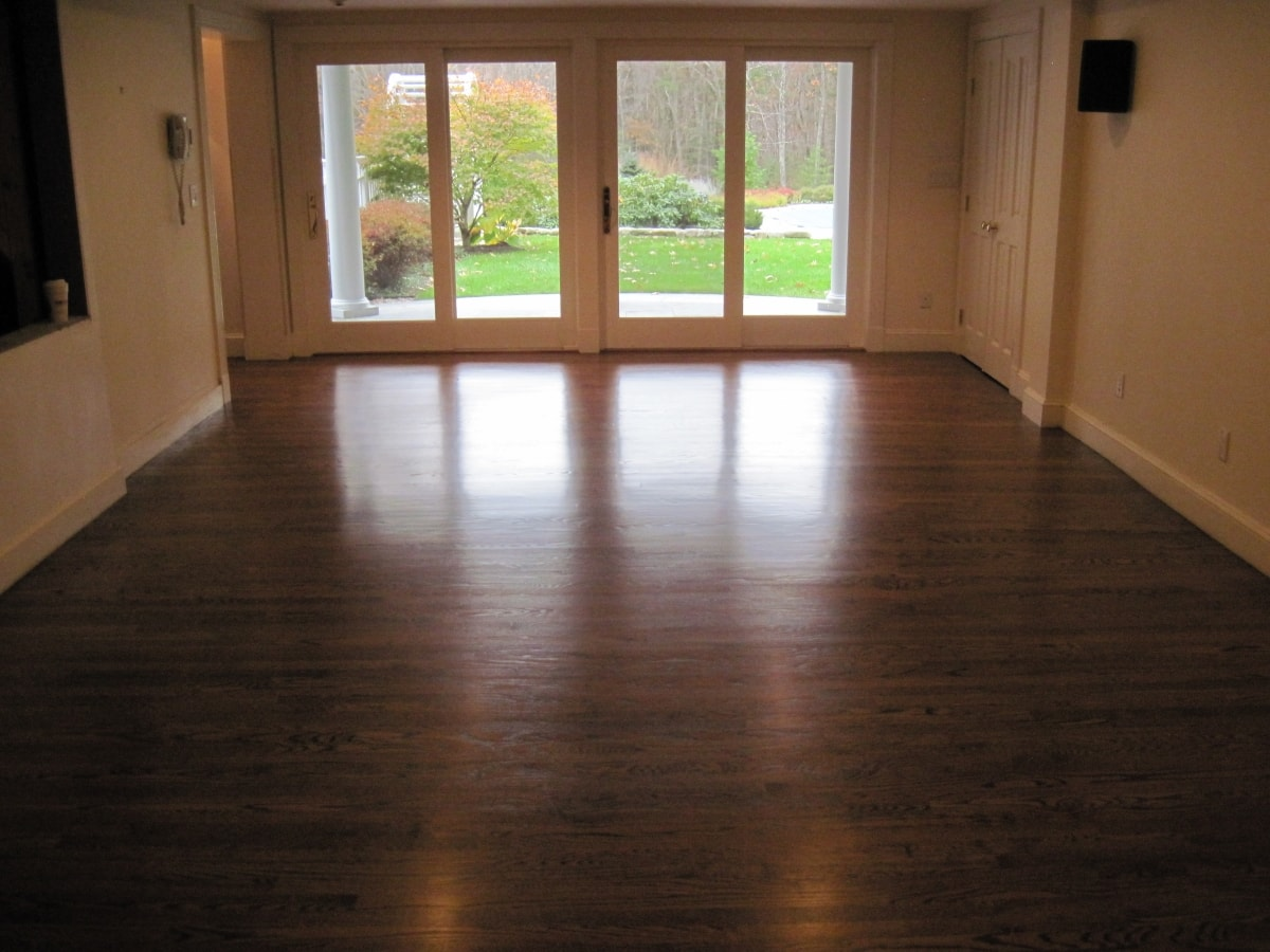 Red Oak Hardwood Stained Medford MA 1-min