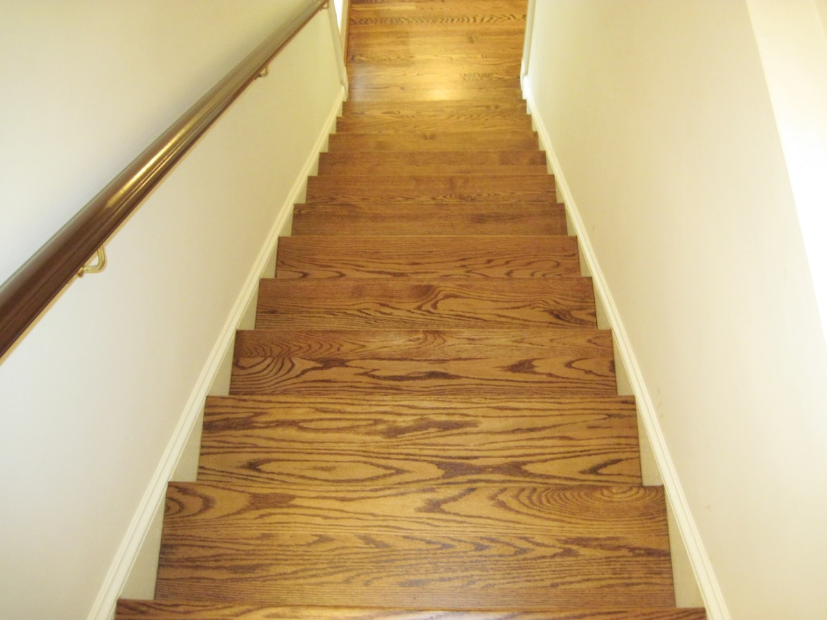 Red Oak Hardwood Stained Medford MA 10-min