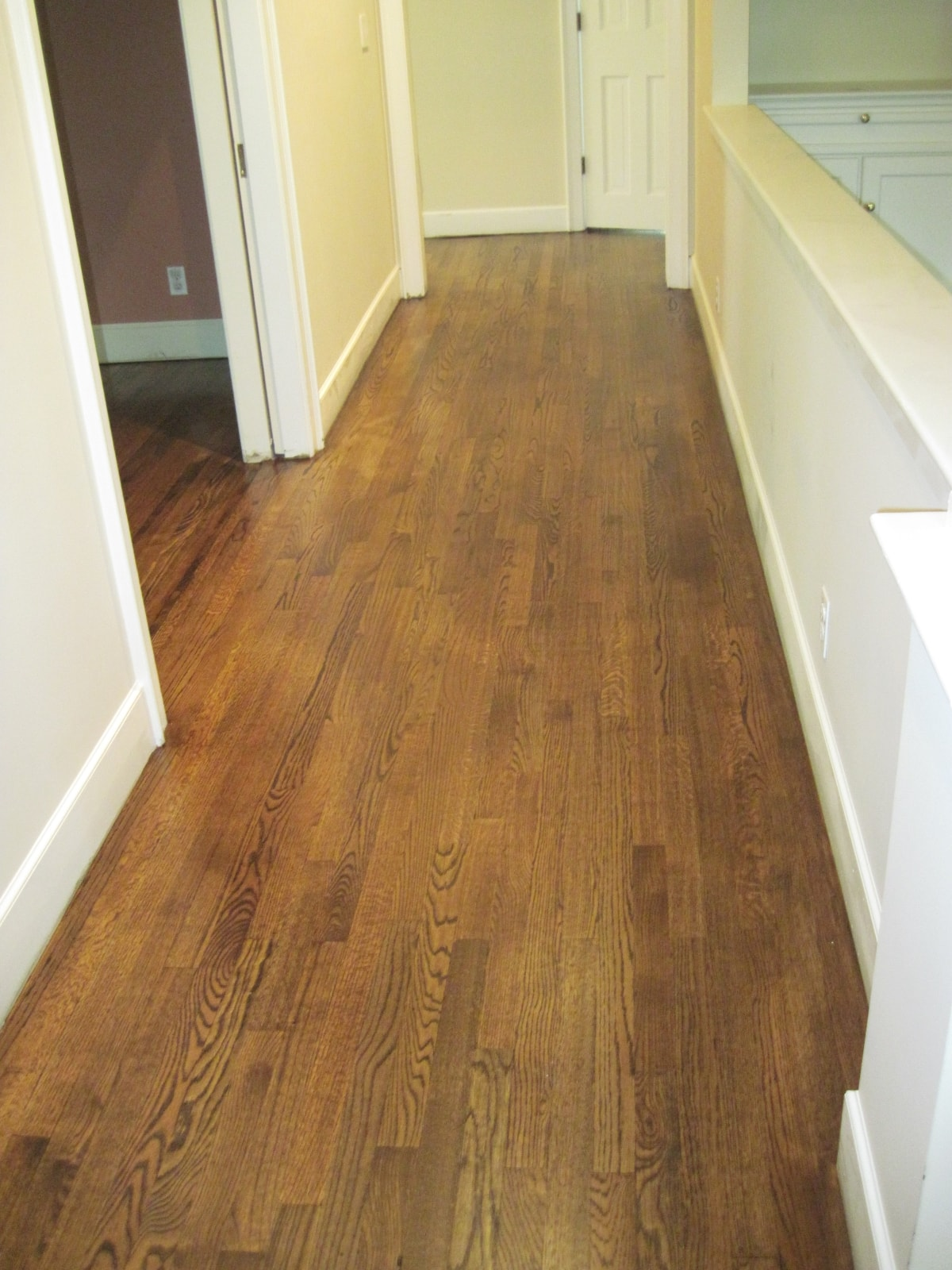 Red Oak Hardwood Stained Medford MA 2-min