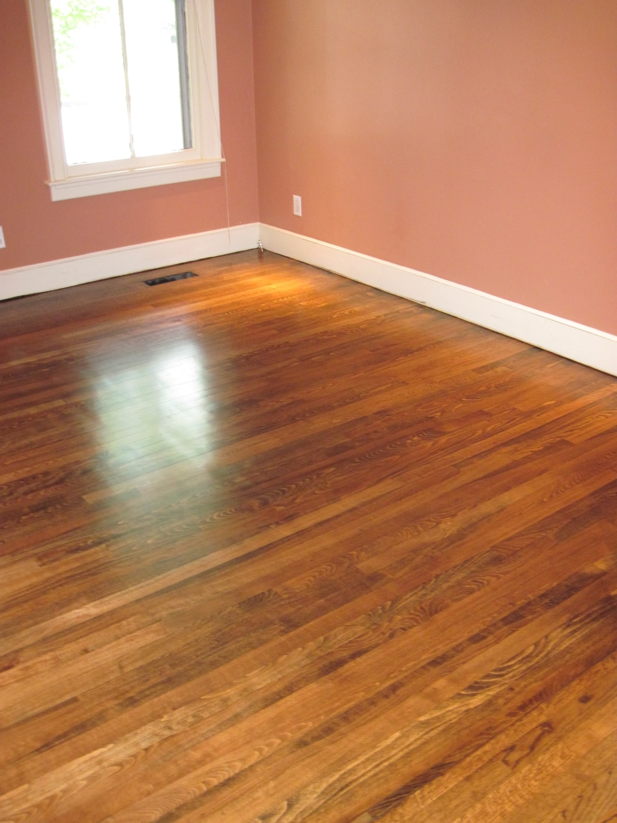 Red Oak Hardwood Stained Medford MA 3-min