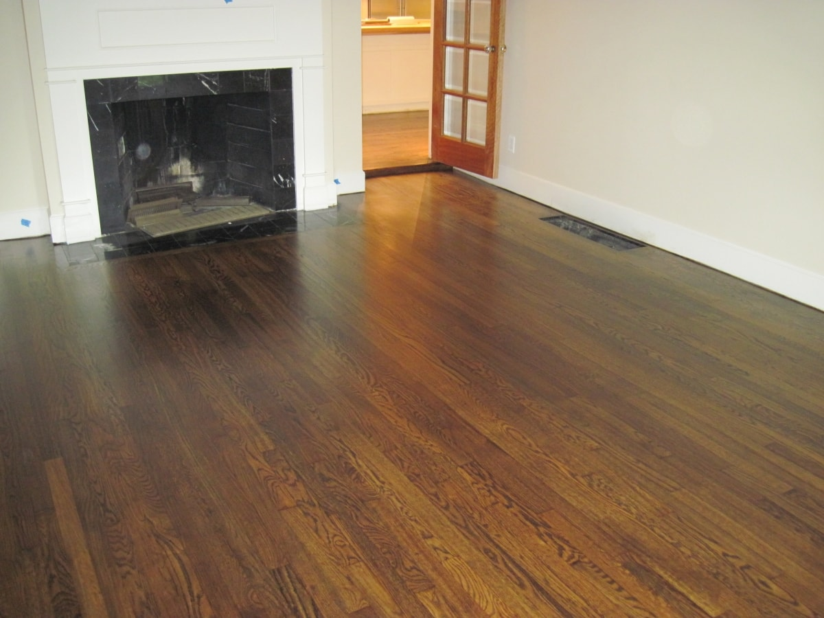 Red Oak Hardwood Stained Medford MA 4-min