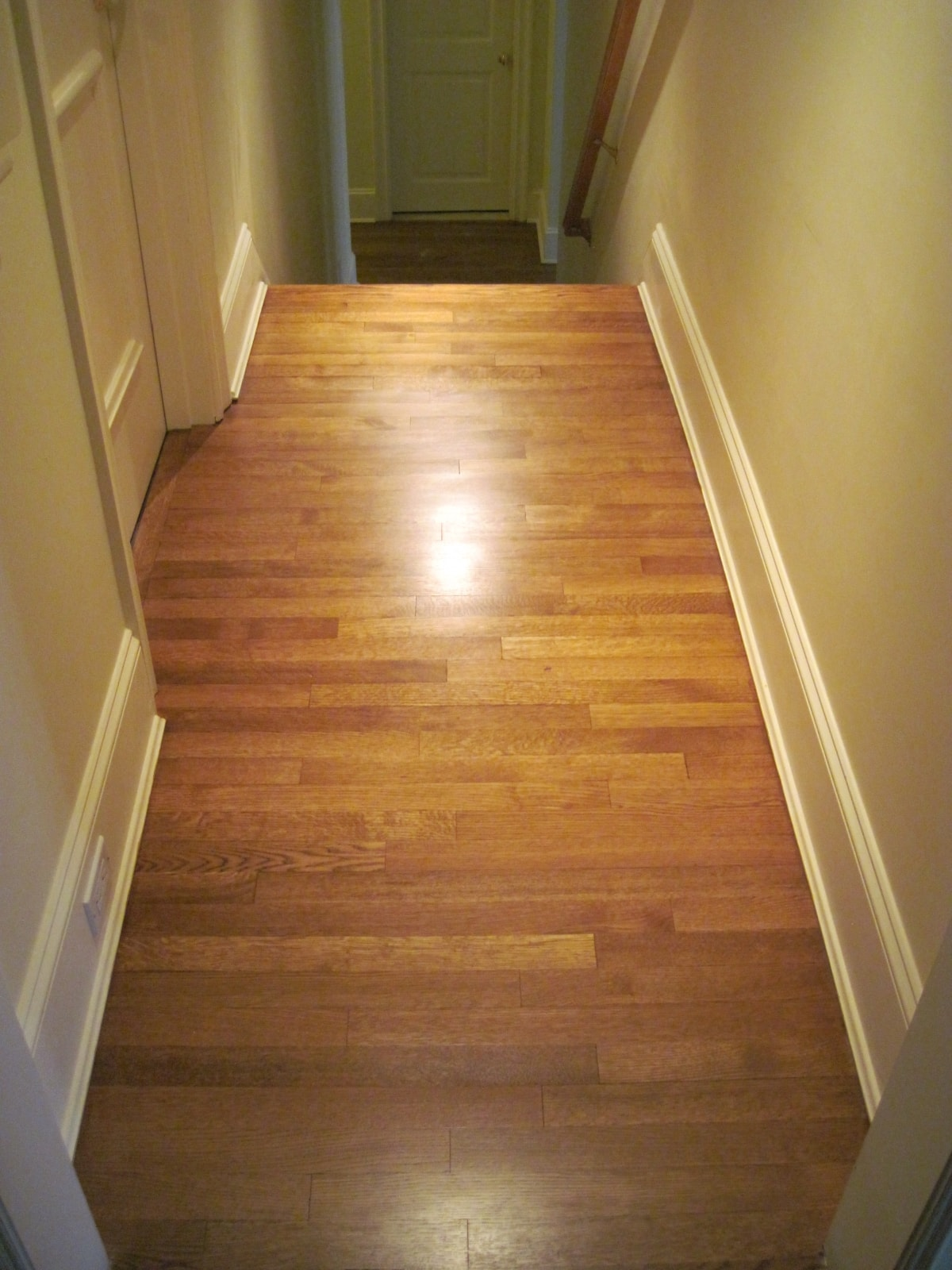 Red Oak Hardwood Stained Medford MA 5-min