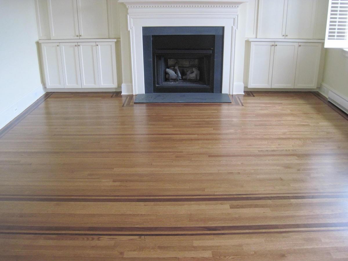 Red Oak Hardwood Stained Medford MA 7-min