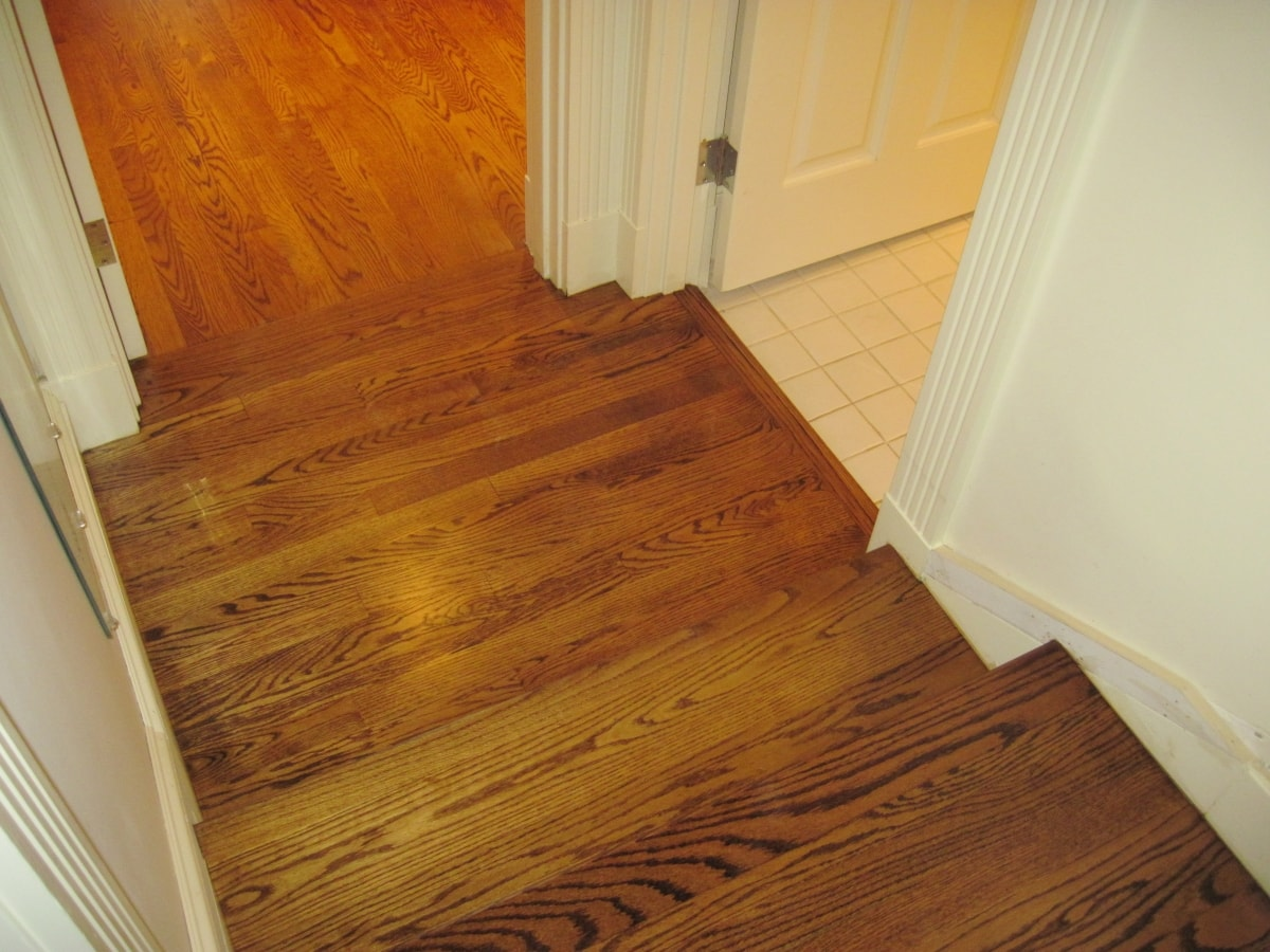 Red Oak Hardwood Stained Medford MA 8-min
