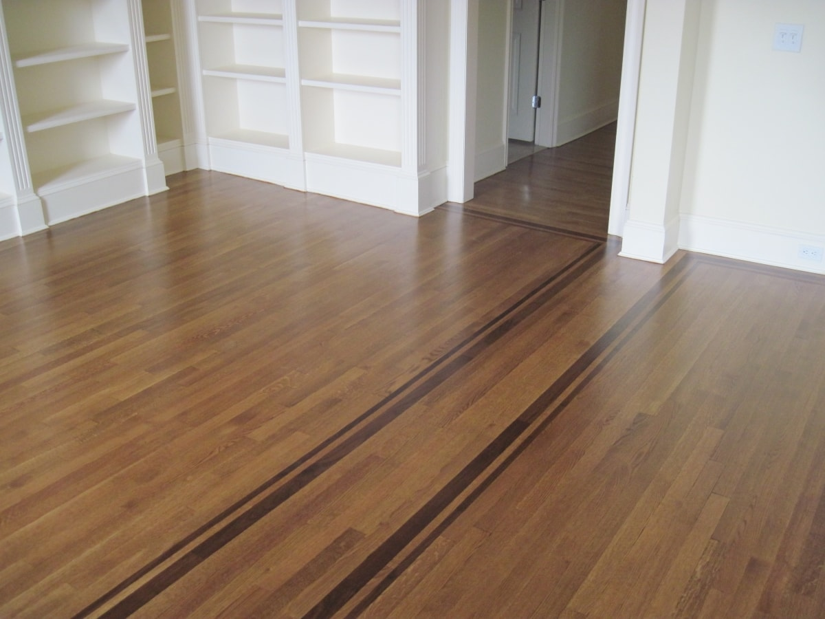 Red Oak Hardwood Stained Medford MA 9-min